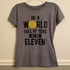 Women's Grey Short Sleeve Eleven Top Medium